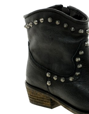 Image 2 ofRiver Island Western Stud Ankle Boots