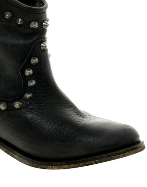Image 3 ofRiver Island Western Stud Ankle Boots