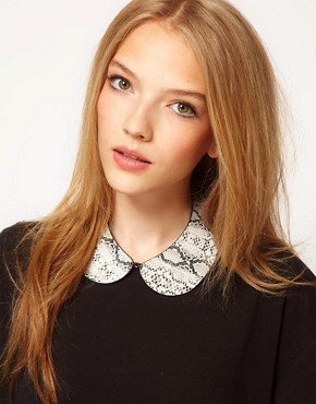 Image 1 ofASOS Snake Print Collar Necklace