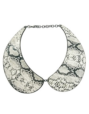 Image 2 ofASOS Snake Print Collar Necklace