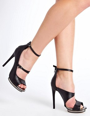 Image 3 ofASOS PLATONIC Peep Toe Heeled Shoes