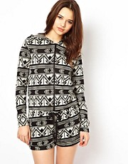 River Island Navano Aztec Playsuit