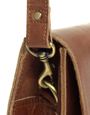 Image 2 ofASOS Leather Old Boy Satchel