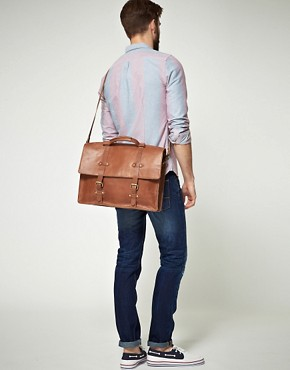 Image 3 ofASOS Leather Old Boy Satchel