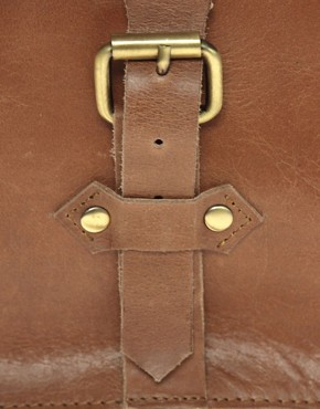 Image 4 ofASOS Leather Old Boy Satchel