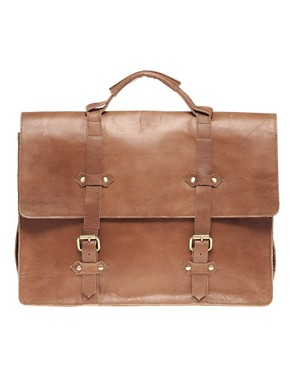 Image 1 ofASOS Leather Old Boy Satchel