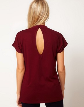 Image 2 ofASOS Top with Pleat Front and High Neck