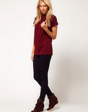 Image 4 ofASOS Top with Pleat Front and High Neck