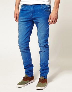 Image 1 ofASOS Skinny Blue Jeans