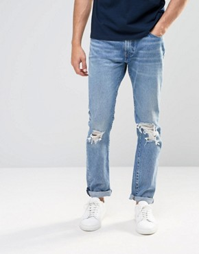 Levi's 505C Slim Jeans Joey Distressed Light Wash