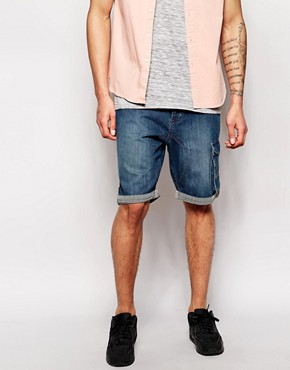 Ringspun Denim Short Contrast Turnup