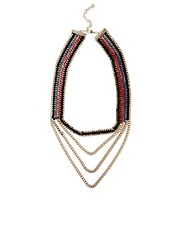 Oasis Cord And Chain Multi Row Necklace