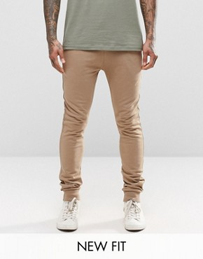 ASOS Super Skinny Joggers In Light Camel