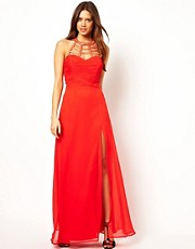 Lipsy Maxi Dress with Cage Neck Detail
