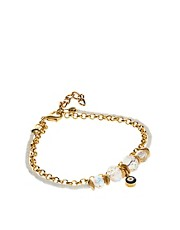 Adele Marie Evil Eye Drop Bracelet
