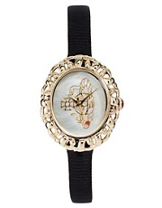 Vivienne Westwood Rococo Black Strap Watch