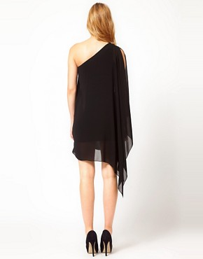 Image 2 ofRare Chiffon Asymmetric Dress With Embellishment