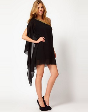 Image 4 ofRare Chiffon Asymmetric Dress With Embellishment