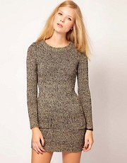 NW3 Lurex Knitted Dress with Pockets