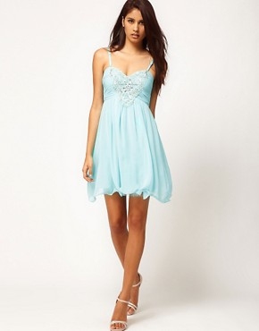 Image 4 ofLittle Mistress Embellished Bodice Prom Dress
