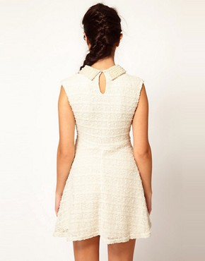 Image 2 ofRiver Island Pearl Collar Skater Dress