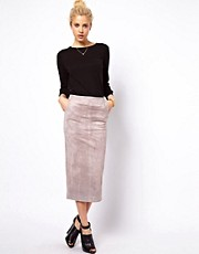 ASOS Pencil Skirt in Suede