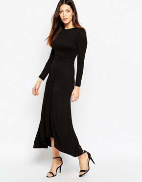Baggy black maxi dress