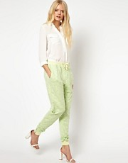 Selected Nicci Sweat Pants with Zip Ankle Detail
