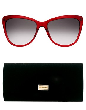Image 2 ofDolce And Gabanna Mambo Collection Red Sunglasses