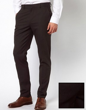 Image 1 ofASOS Skinny Fit Smart Trousers