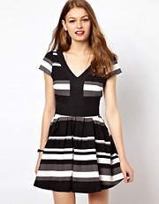 A Wear Stripe Skater Dress
