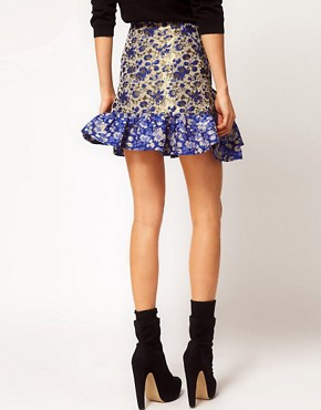Image 2 ofASOS Jacquard Skirt With Trumpet Hem