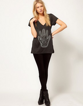 Image 4 ofASOS T-Shirt with Palm Hand