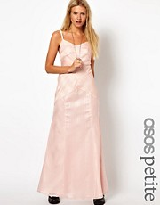 ASOS PETITE Exclusive Maxi Dress In Textured Stripe