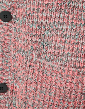 Image 3 of ASOS Granddad Cardigan In Multistitch