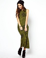 ASOS Maxi Dress In Egyptian Tribal Print