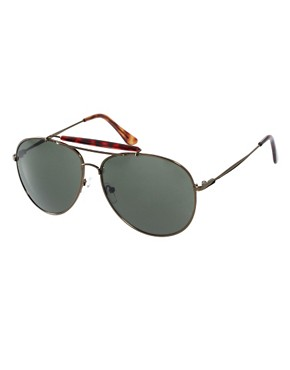 Image 1 ofASOS Bar Brow Aviator Sunglasses