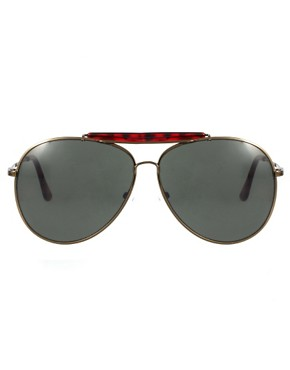 Image 2 ofASOS Bar Brow Aviator Sunglasses