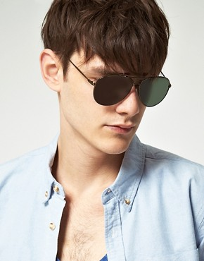Image 3 ofASOS Bar Brow Aviator Sunglasses