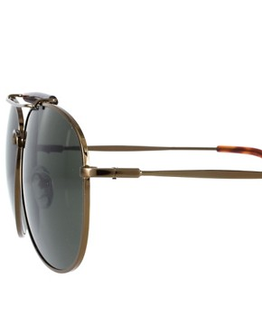 Image 4 ofASOS Bar Brow Aviator Sunglasses