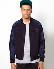 Lacoste Live Varsity Jacket with Japanese Embroidery