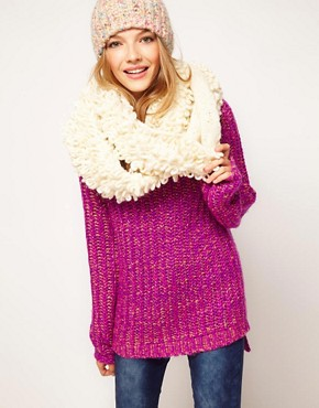Image 1 ofASOS Wool Mix Loop Yarn Snood