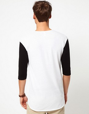 Image 2 ofAmerican Apparel Baseball Henley Top