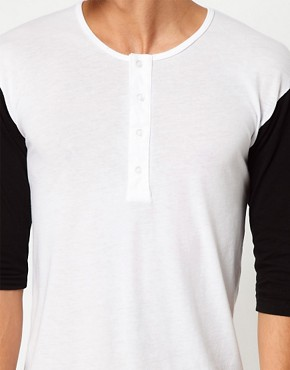 Image 3 ofAmerican Apparel Baseball Henley Top