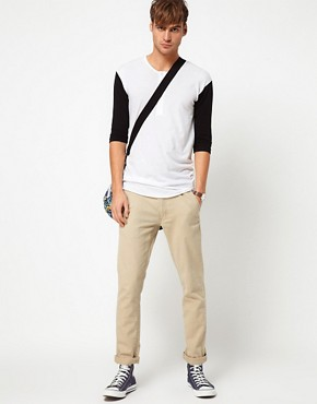 Image 4 ofAmerican Apparel Baseball Henley Top