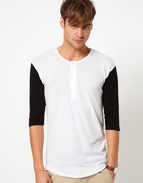 Image 1 ofAmerican Apparel Baseball Henley Top