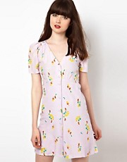 Sessun Silk Tea Dress in Clematis Print