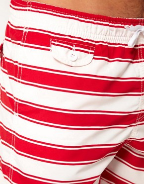 Image 3 of ASOS Stripe Swim Shorts
