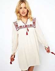 ASOS Smock Dress With Embroidery