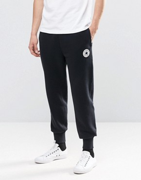 Converse Rib Cuff Patch Joggers In Black 10002135-A02